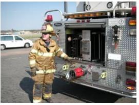 loading a firetruck