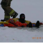 rescuing a man from ice